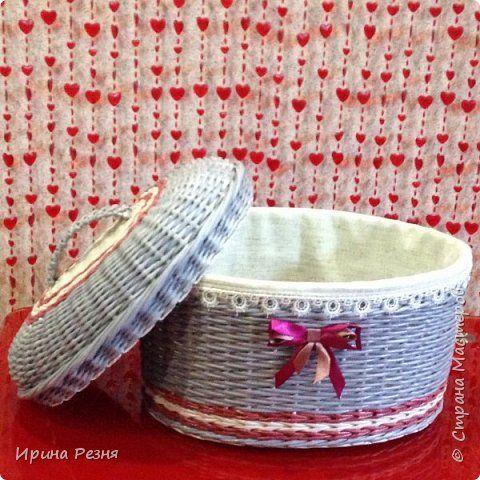 Поделка изделие Плетение Хлебницы плетеные и печенюшница Бумага газетная Трубочки бумажные фото 3