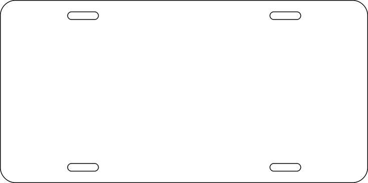 Blank License Plate Template - Invitation Templates | craft ...
