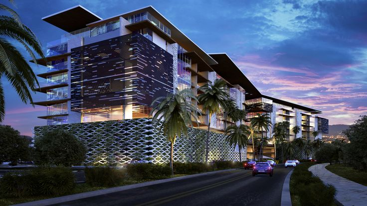 Render Hotel frente al mar - EVA3D