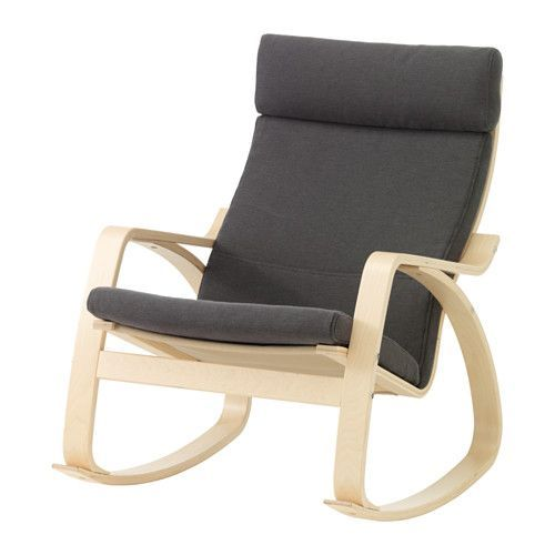 POÄNG Rocking chair, birch veneer, Finnsta gray Finnsta gray birch veneer