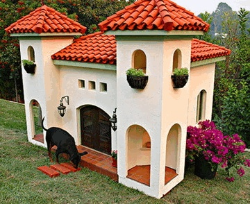 Fancy Dog House ;) Harley-Davidson would love this.....
