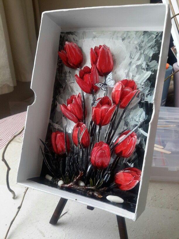 Miniature papertole tulips-Sümbül Eldek
