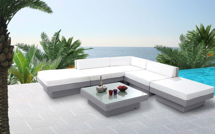 Salotto da giardino completo in resina intrecciata colore grigio MAURICE - Zoomhttp://www.miliboo.it/salotto-da-giardino-resina-intrecciata-grigio-maurice-22362.html
