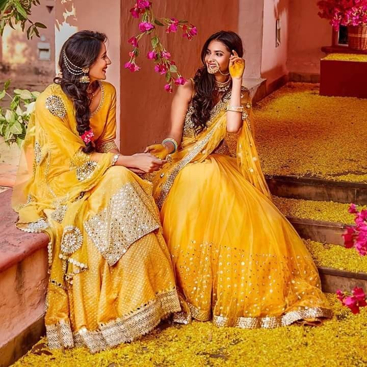 25 Pre Wedding Hairstyles For Mehndi Haldi Or More: 972 Best Haldi Function Dresses Images On Pinterest