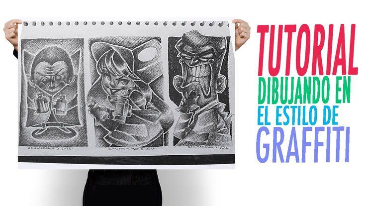 Tutorial. Técnicas de Dibujo. Como dibujar personajes estilo Graffiti. H...