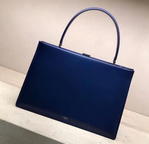 2018 Celine Medium Clasp bag in box calfskin Lazuli e5d431f0e5550