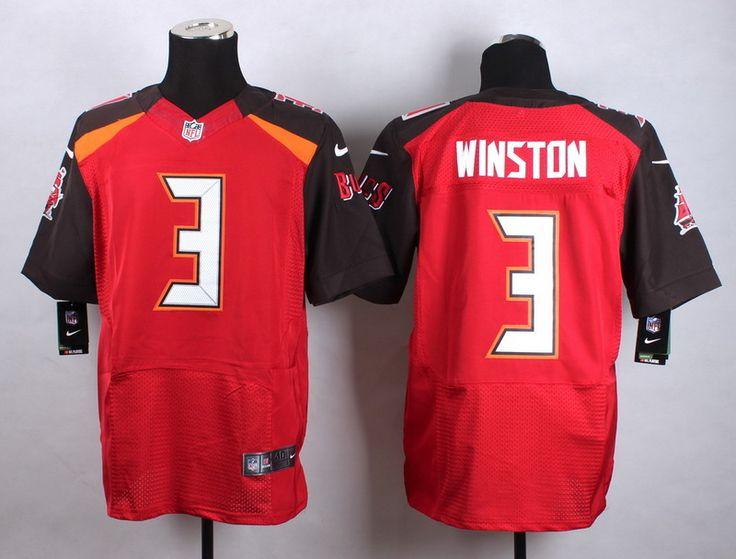 Men's NFL Tampa Bay Buccaneers #3 Winston Red Elite Jersey
