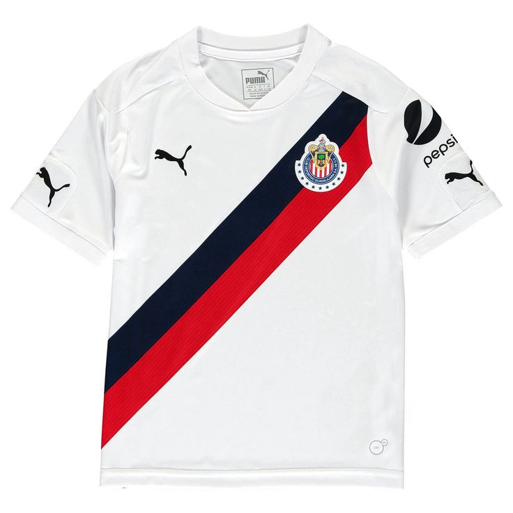 Chivas Puma Youth 2016/17 Away Replica Jersey - White/Red - $55.99