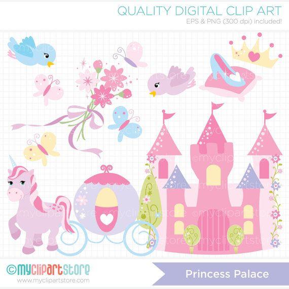 Princess Palace Clip Art / Digital Clipart por MyClipArtStore