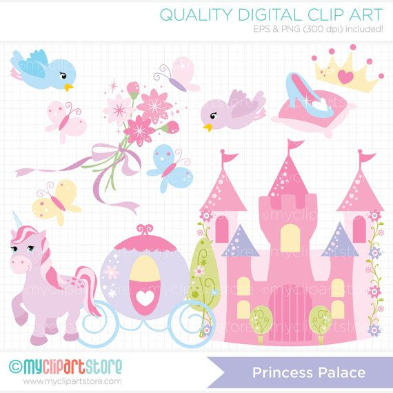 Princess Palace Clip Art / Digital Clipart  by MyClipArtStore, **