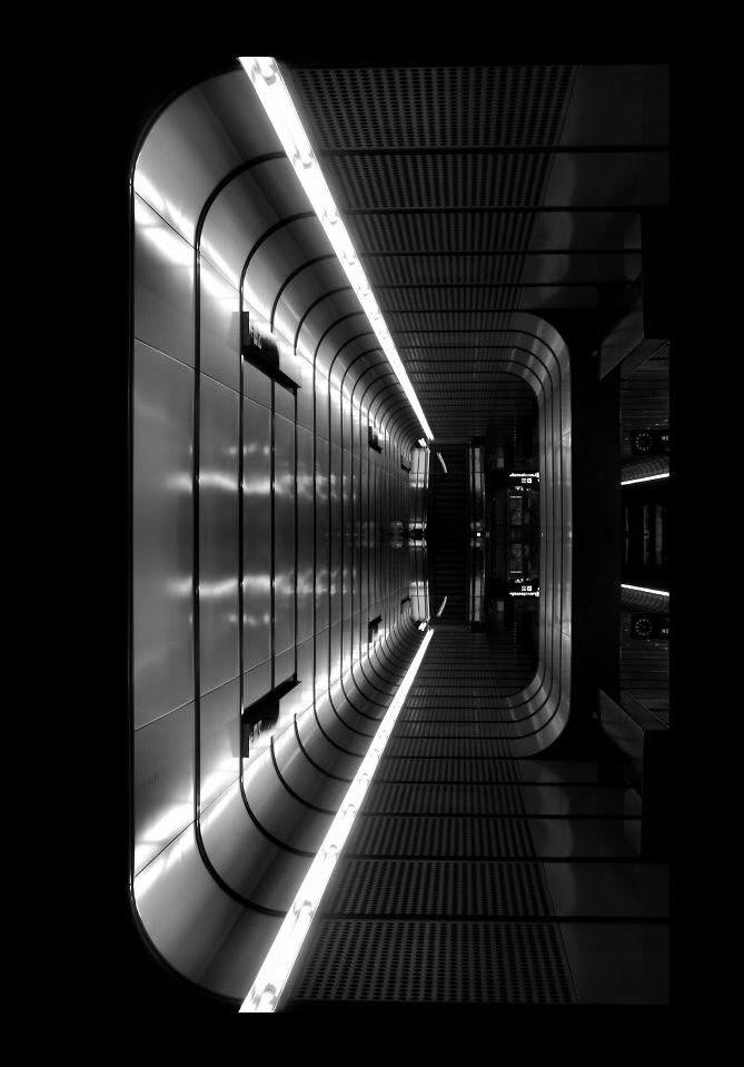 Futuristic Interior, Dark, Black, Science Fiction, Totally awesome sci fi interior.  Arcology?