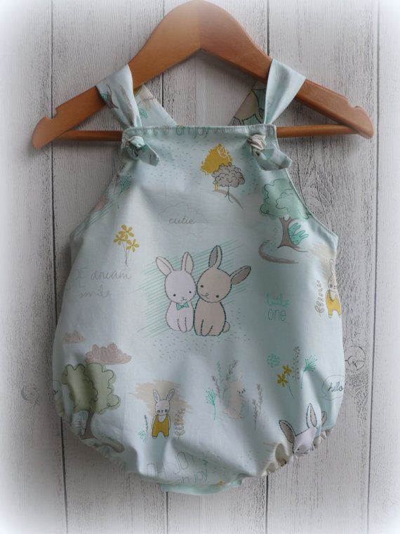 Baby Bunny Romper by LittleMacsClothing on Etsy, $32.00