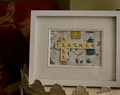 Best Teacher - Scrabble Tiles - Perfect teacher's present for end of the year