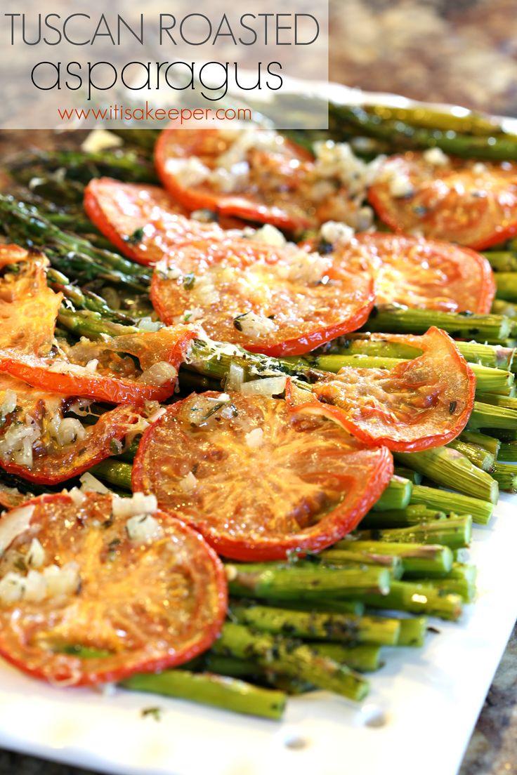Healthy Easy Dinner Recipes: Tuscan Roasted Asparagus Roast