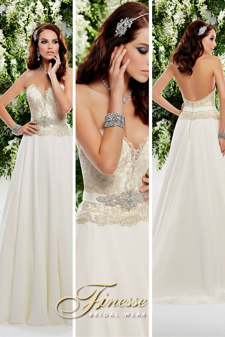 Elegant and charming A Line Wedding Dress from Finesse Bridal Wear, Ireland #Brides