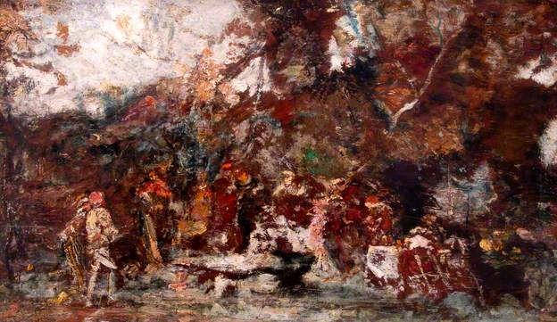 Monticelli, Adolphe, (1824-1886), Fête Champêtre, Oil