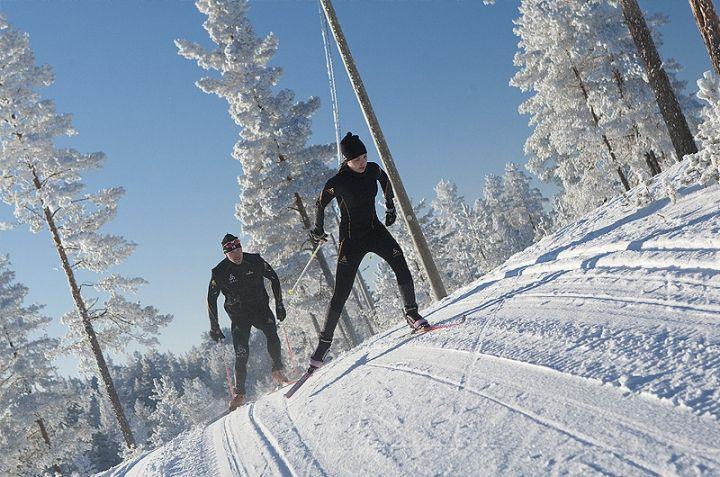 Ski. Winter activities. Rokua Health & Spa Hotel. Finland.