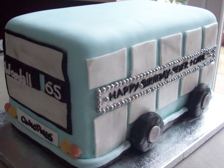 city bus birthday cake