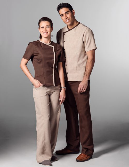 85 best housekeeping images on pinterest housekeeping for Spa housekeeping uniform