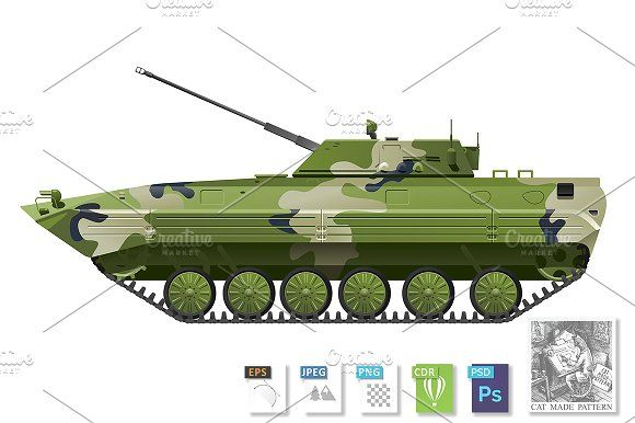 Infantry fighting vehicle by CatMadePattern on @creativemarket
