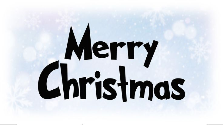 """Holiday Clip-Art: Black & White """"Merry Christmas"""" Words in Fun Bold Font Inspired by The Grinch ..."""