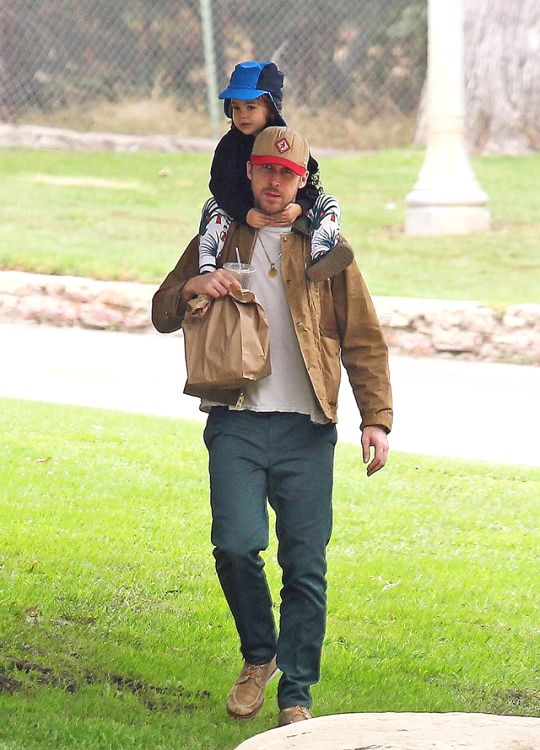 Ryan Gosling with daughter 24 August, 2017 ❤