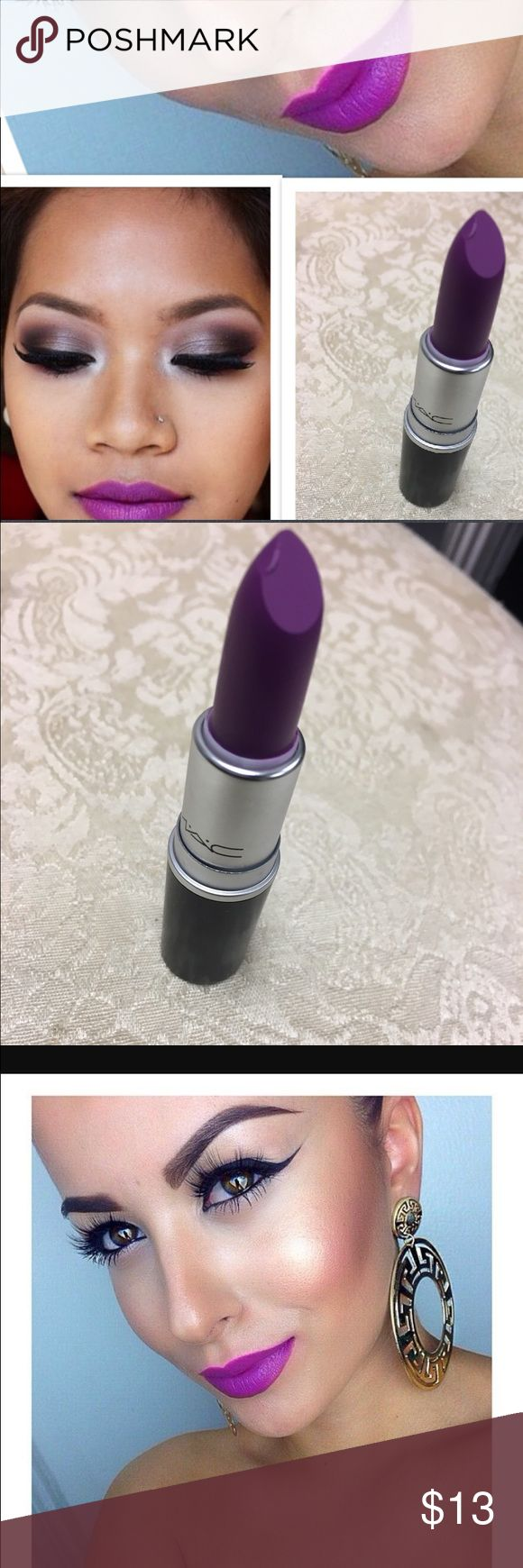 Mac heroine Brand new. Has minor chip as seen in photo. Includes box. never used ☂️ MAC Cosmetics Makeup Lipstick