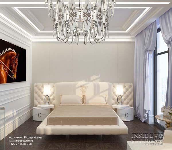 Дизайн проект интерьера спальни. Архитектор Ирина Рихтер. INSIDE-STUDIO Prague