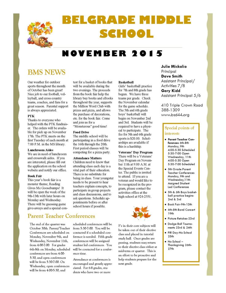Best Newsletters Images On   Colleges Middle School