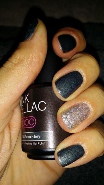 Pink Beauty Club shared Danielle de Graaf's photo. Petrol Grey&Fabulous Silver love gellac!
