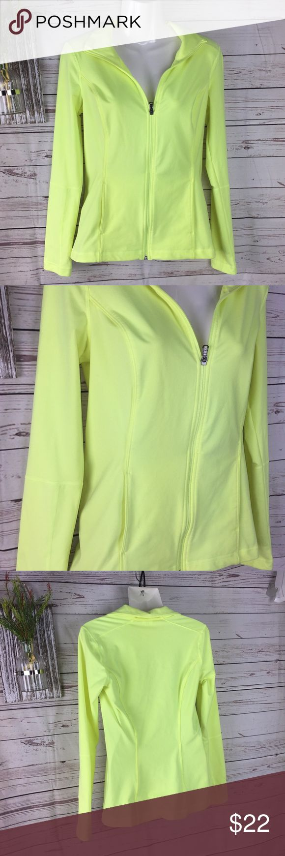 Under armour Bright yellow fit it zip up jacket S Under armour zip up jacket Bright yellow Front pockets Good condition Size small Under armour Bright yellow zip up jacket Under Armour Jackets & Coats