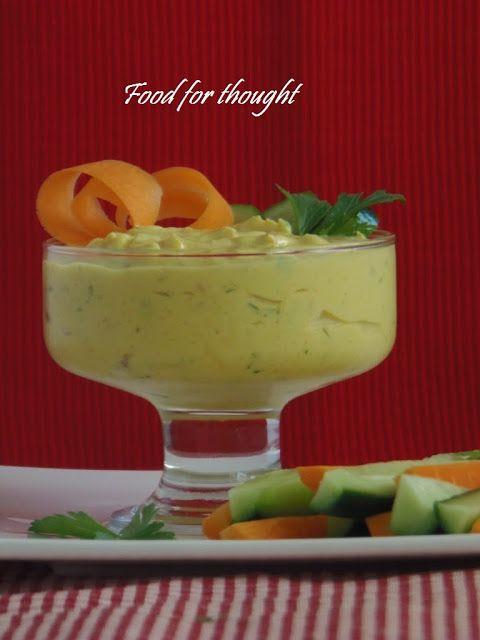 Ντιπ με γιαούρτι, μάνγκο και κάρι