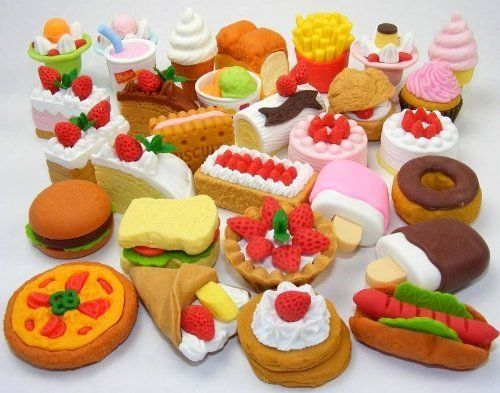 10 Assorted FOOD CAKE DESSERT Japanese Erasers IWAKO by Iwako. $0.95. 10 Randomly assorted Food style erasers!. Save 90%!