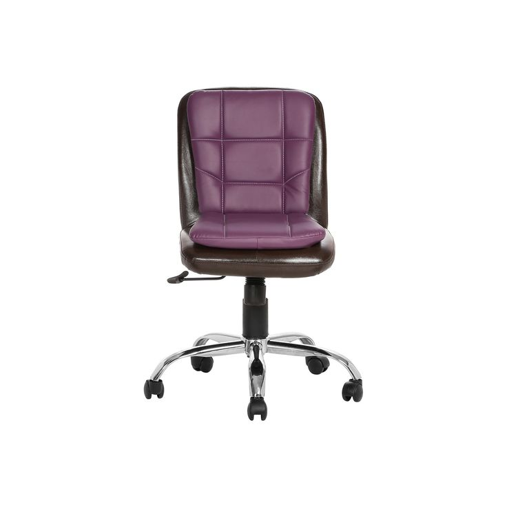 """LIBRANEJAR LB WORKSTAION CHAIR BROWN AND PURPLE""  Office Furniture 