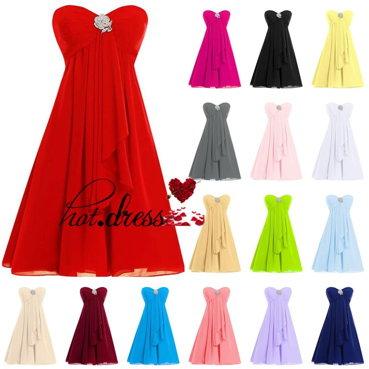 2016 Stock Short Formal Bridesmaid Dresses Prom Evening Party Cocktail Gown 6-18 #Unbranded