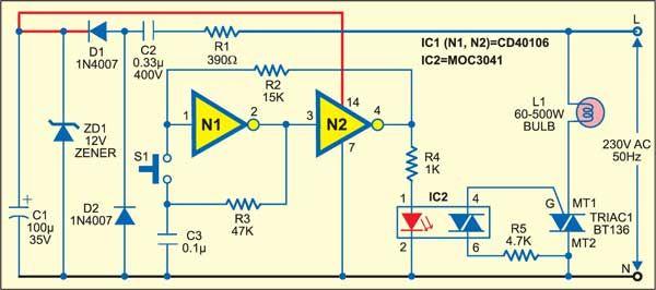 Smart Switch Circuit Detailed Circuit Diagram Available Smart Switches Electronics Circuit Circuit Diagram