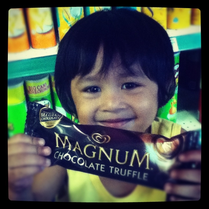 The new endorser of Magnum Ice Cream by Selecta, Roj :)