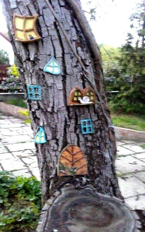 Tündérfa / Fairy tree www.mesekeramia.hu  #mesekerámia #tündérfa #manófa #fairygarden