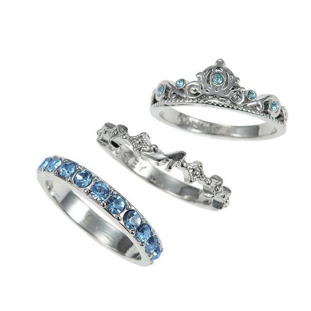 LAST PC]Tokyo Disney Store / Disneyland / Japan / imported : princess series - Cindellera - 3 pc ring on Carousell