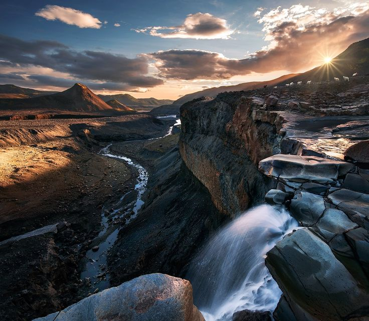 """The Lost World - For my latest work check my <a href=""""https://www.facebook.com/pages/Max-Rive-Photography/182378168614600?fref=ts"""">'Facebook Page</a>  This photo is taken somewhere between Thorsmork and landmannalaugar at sunset.  A relative small area but with an incredible diversity in scenery . You can find icecaves, desserts, craters and glaciers at one place and behind the next mountain you might see green mountains, flowers, and volcanic mountains."""