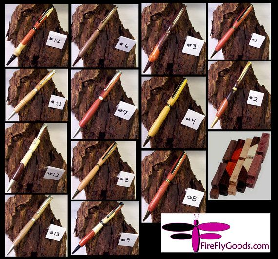 Hand Turned Refillable Twist Ink Pen - CUSTOM - Many varieties of hardware and wood available. SEE DESCRIPTION!
