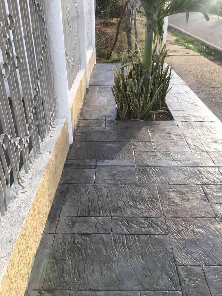 Pisos estampados de concreto