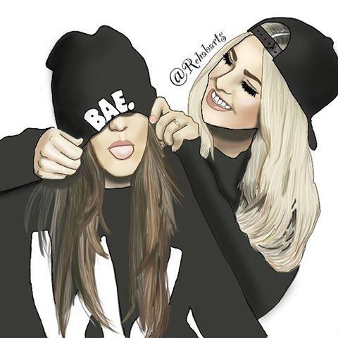 Idea by Aileen on Best friends Bff drawings