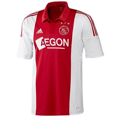 Ajax 2014/2015 Home Shirt (White/Red). Available from Kitbag.com