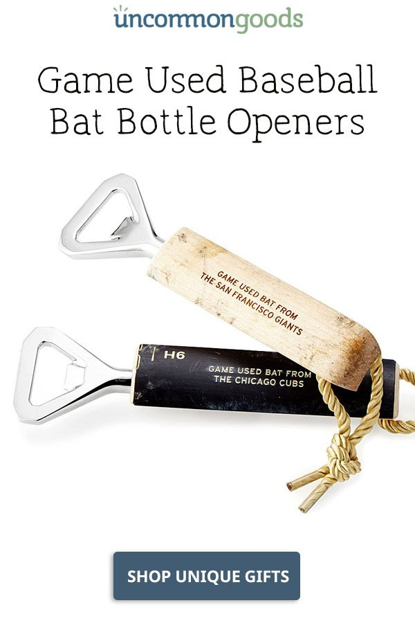 Indians - Game Used Baseball Bat Bottle Openers | Christmas