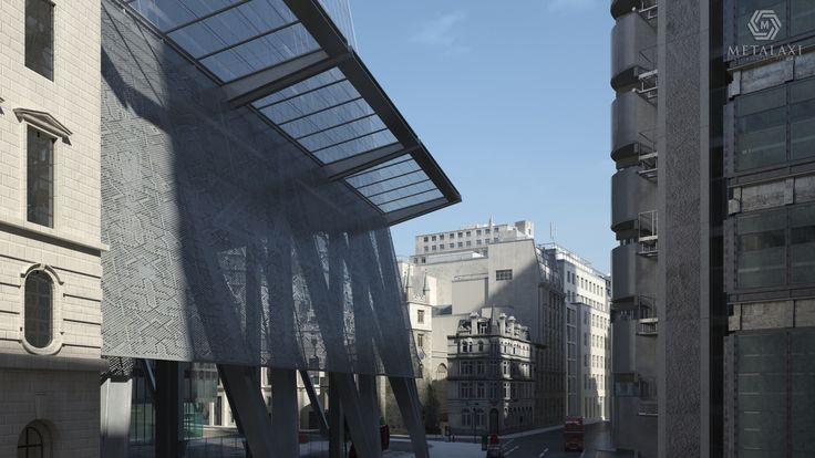 Unique Office Building project with Metalaxi perforated architectural products. Life is in the details. www.metalaxi.com