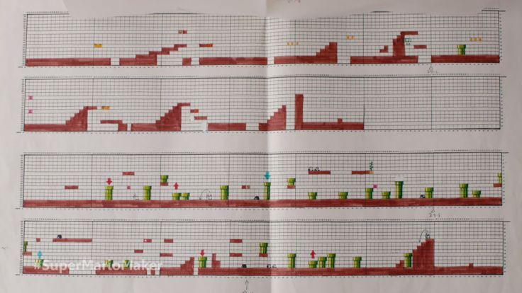 Veja+como+as+fases+de+Super+Mario+foram+criadas+à+mão,+em+papel+quadriculado!