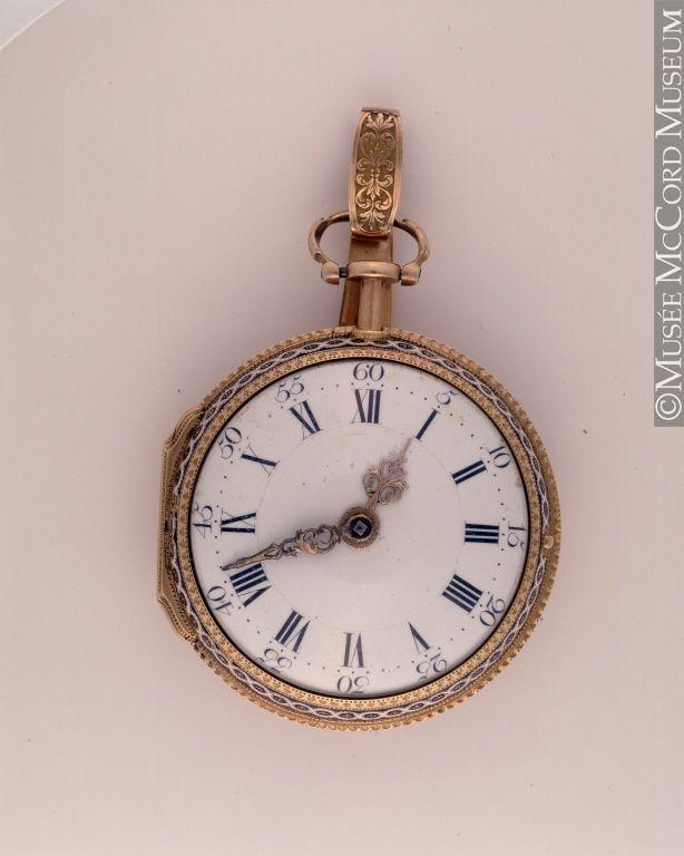 McCord Museum: reloj de 1800-1825 (Inventario: M977.129.2)