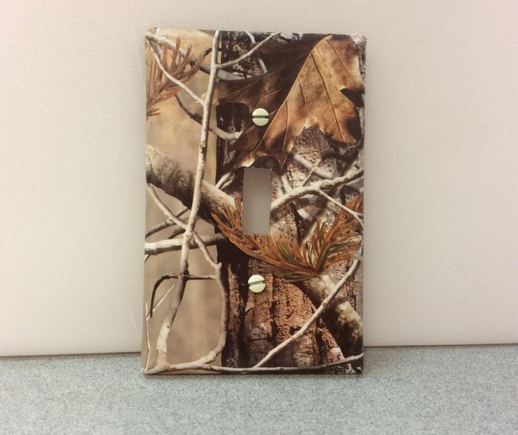 Man Cave Miranda : Real tree light switch cover outlet camo bedroom