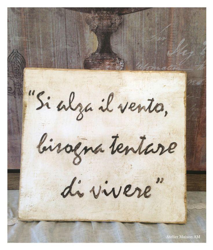 62 migliori immagini negozio atelier maison am su pinterest - Scritte in legno shabby ...